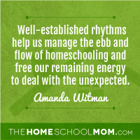 Rhythms, Routines, Rituals in the Homeschool