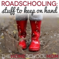 "Roadschooling: My list of ""extras"" to keep in the car"