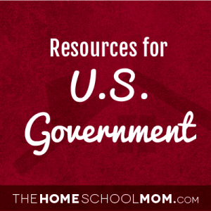 Homeschool resources about the US government